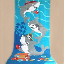 kids children bath beach towel 100% cotton hot sale big size 150*75cm sea world