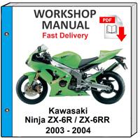 Kawasaki Ninja Zx6r Service Manual In Pdf Format Ebay