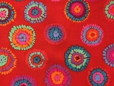 Free Spirit Kaffe Fassett Plink PWGP109.Red Contemporary Fabric BTY