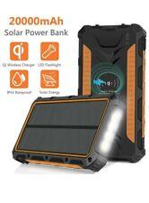 Sendowtek Caricabatterie Solare 20000mAh, Power Bank Qi Wireless Batteria Top!!