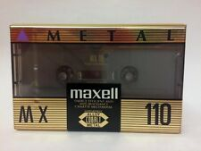 MAXELL MX 110 BLANK AUDIO CASSETTE TAPE NEW RARE 1992 YEAR JAPAN MADE