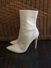 Steve Madden Wagner Patent Leather PU Stiletto Ankle Booties Size 8