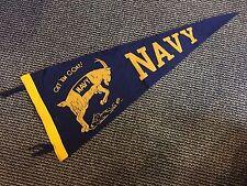 1960'S Navy Midshipman Vintage Full Size Pennant Get 'M Goat! Nm