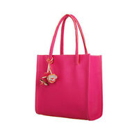 New Women PU Leather Handbag Ladies Casual Shoulder Bags Tote Purse Candy Color
