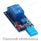 Modulo scheda 1 relè 5V 5Vdc 10A rilevatore umidità relay sensore shield switch
