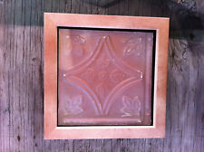 """Tin Ceiling Art Distressed Vintage Copper Pink Wood Frame 6""""X6"""" USA Made #704"""