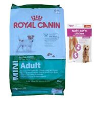 8kg  Royal Canin Mini Adult Hundefutter +  80g Fleischsnacks