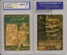 JOE NAMATH 1997 23KT Gold Card * Broadway Joe * NFL New York Jets - GEM MINT 10