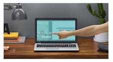 """Laptop Touch Screen capacità Sensore BAR airbar per 15.6"""" Windows 10 Nero Nuovo"""