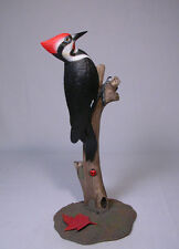 "8"" Pileated Woodpecker Wood Bird Carving/Birdhug"