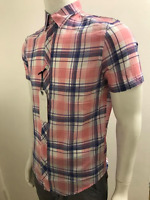 Mens Ex Nxt SS Cotton Colourful Summer Check Casual Smart Shirt In 6 Patterns