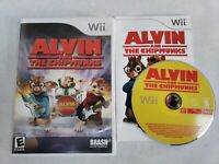 Alvin & The Chipmunks Nintendo Wii Video Game Complete FREE FAST SHIPPING