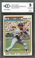 San Francisco Giants  1974 Topps #473 Ws Game Willie Mays Card BGS BCCG 9