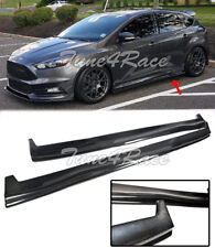 For 13-Up Ford Focus ST RS Carbon Fiber Side Skirts Hatchback Bottom Molding Lip