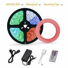 LED Strip Lights Waterproof,16.4ft 300leds RGB LED Light Strip 5050 Color Change