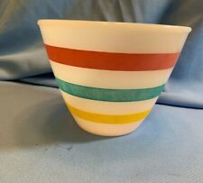 Fire King Stripe Grease Jar #17 Oven Bowl Vintage Collectible No Lid