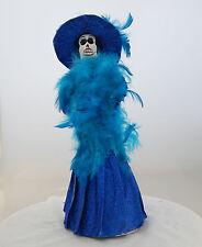 Mexican Paper Mache Catrina Doll Day of the Dead Folk Art   # 514 S