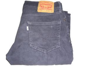 Hommes Levi's 511 Bleu Foncé Slim Fit Stretch Velours Jean W30 L32