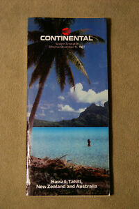 Continental Airlines System Timetable - Dec 15, 1987