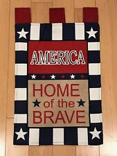 America Home Of The Brave Patriotic Garden Mini American Flag Banner 12.5�x18�