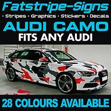AUDI CAMO GRAPHICS A1 A2 A3 A4 A5 A6 TT STICKERS DECALS CAMOUFLAGE VINYL STRIPES