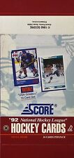 1992 Score NHL Hockey - Empty Display Box - Pat LaFontaine & Doug Wilson on Box