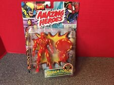 Amazing Heroes Human Torch Action Figure With A Flame-on Action Toybiz 1997