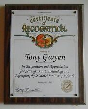 Tony Gwynn 1999 Senate Role Model Award