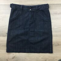 Jag Blue Denim Women's Skirt Straight Knee-Length Size 12 L21.5 (BQ13)