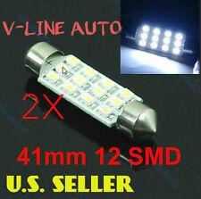41mm Auto LED Interior Dome Festoon Light Bulbs HYPER White *USA SELER*