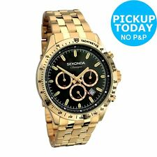 Sekonda Classique Men's Chronograph Gold Tone Bracelet Watch