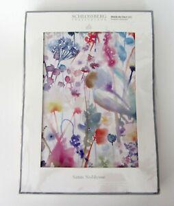 Schlossberg Satin Noblesse Ida Blanc KING Duvet Cover 100% Cotton NEW