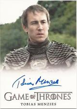 """Game of Thrones Season 3 - Tobias Menzies """"Edmure Tully"""" Autograph Card"""