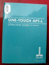 Okuma One-Touch Apt-L Operation Guide Pub. 3506-E-R2 (Inv.12148)