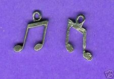 20 wholesale lead free pewter music note charms 1057