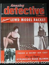 """Amazing Detective"" June 1958 UHG  - High Grade"