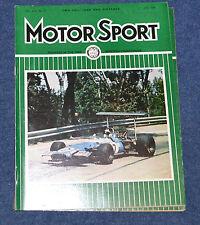 Motor Sport June 1969 Monaco GP, 1000kms of Francorchamps & Monza