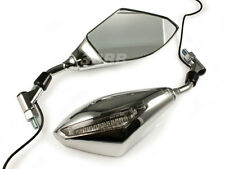 e-Mark Honda Suzuki Kawasaki Handle mount 10mm Turn Signal Mirrors NOT ACRYLIC