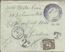 Tristan Da Cunha -Cachet TypeII-SG#C2-BLACK(cat,425pounds)with Letter