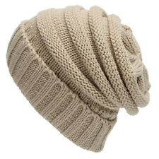 Unisex Men Warm Winter Baggy Beanie Beret Knit Crochet Oversize Hat Slouch Caps