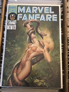 MARVEL FANFARE #57 SHANNA SHE=DEVIL JUNGLE GIRL JOE CHIODO SPICY PIN UP COVER