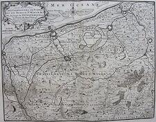 Carte particuliere DES CHATELLENIES DE FURNES ET DE BERGUE ST WINOX &c. 1730