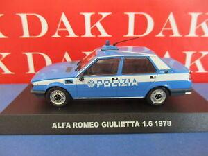 Die cast 1/43 Modellino Auto Polizia Police Alfa Romeo Giulietta 1.6 1978