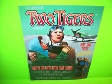 Bally Midway TWO TIGERS Original NOS 1984 Video Arcade Game Promo Sales Flyer