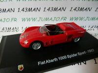 IT65M Voiture 1/43 Hachette ABARTH collection : FIAT 1000 spider sport 1963
