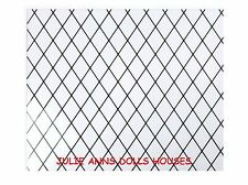 DOLLS HOUSE GLAZING ACETATE  LEADED DIAMOND WINDOW PANE SHEET MINIATURE  0.5 mm