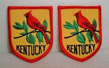 Kentucky Cardinal State Bird Pair Embroidered Patches - New - Unused