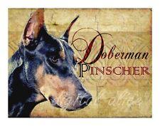 DOBERMAN PINSCHER DOG Art Print Poster--Vintage Series Wendy Presseisen