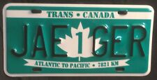 TRANS CANADA HIGHWAY 1 Souvenir License Plate JAE  GER