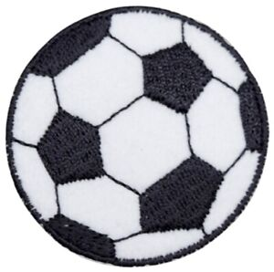 "Soccer Ball Applique Patch - Futbol, Sports Badge 2"" (Iron on)"